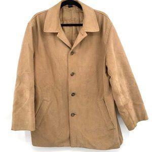 J.CREW Top Coat Car Coat Jacket Camel Tan Men L